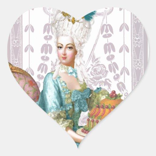 Marie Antoinette in Aqua Sticker