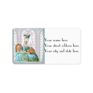 Marie Antoinette in Aqua with Cake Label