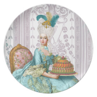 Marie Antoinette in Aqua with Cake Party Plates