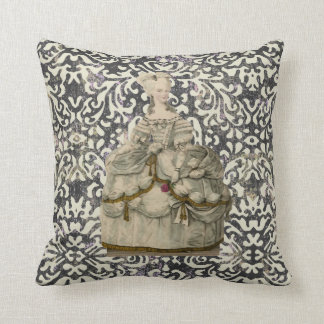 Marie Antoinette in Extravagant Dress Pillow