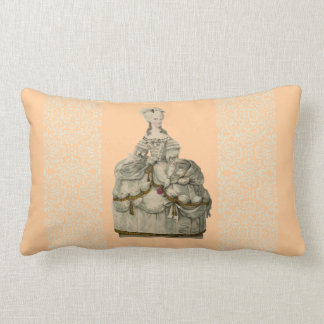 Marie Antoinette in Extravagant Dress Pillow 13x21