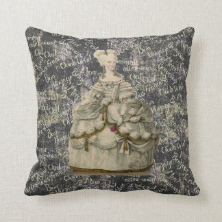 Marie Antoinette in Extravagant Dress Pillow 20x20
