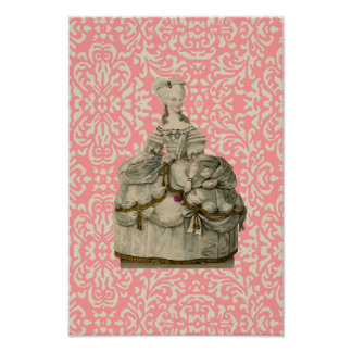 Marie Antoinette in Extravagant Dress ~ Poster
