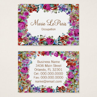 Marie Antoinette in Flowers - Business Card