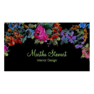 Marie Antoinette in Flowers Business Cards