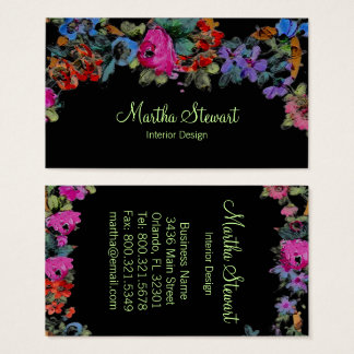 Marie Antoinette in Flowers - Business Cards