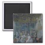 Marie Antoinette  in her chamber at Versailles 2 Inch Square Magnet