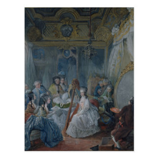 Marie Antoinette  in her chamber at Versailles Postcard