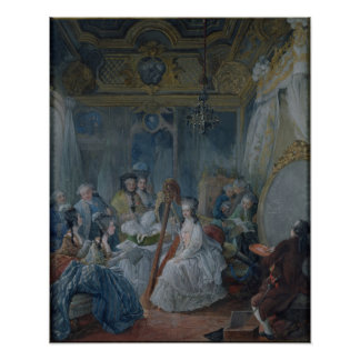 Marie Antoinette  in her chamber at Versailles Posters