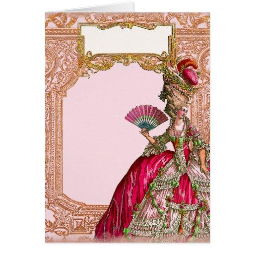 Marie Antoinette in Hot Pink Card