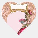 Marie Antoinette in Hot Pink Heart Sticker
