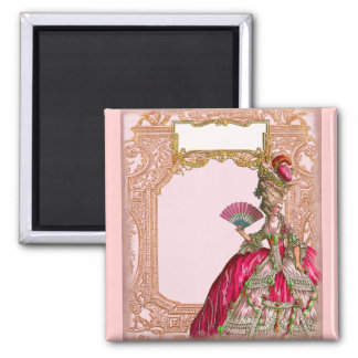 Marie Antoinette in Hot Pink Refrigerator Magnets