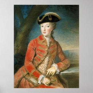 Marie Antoinette in Hunting Attire by Krantzinger Poster