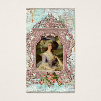 Marie Antoinette in Pink Frame Business Card
