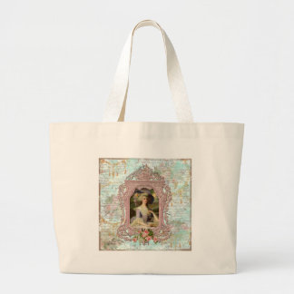 Marie Antoinette in Pink Frame Canvas Bags