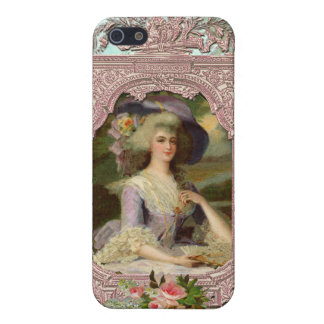 Marie Antoinette in Pink Frame Cover For iPhone SE/5/5s