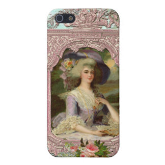 Marie Antoinette in Pink Frame iPhone SE/5/5s Case