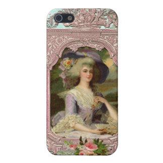 Marie Antoinette in Pink Frame iPhone SE/5/5s Case