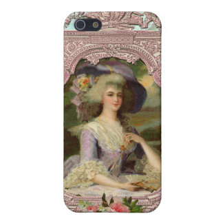 Marie Antoinette in Pink Frame iPhone SE/5/5s Cover
