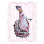 Marie Antoinette In Pink Invitation Postcards