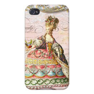 Marie Antoinette in Pink iPhone 4/4S Case