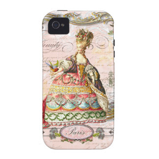 Marie Antoinette in Pink Paris Case iPhone 4 Covers