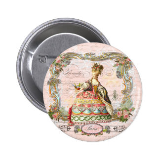 Marie Antoinette in Pink Pinback Button