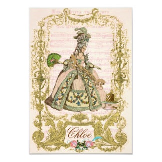 "Marie Antoinette Invitations 3.5"" X 5"" Invitation Card"