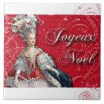 Marie Antoinette Joyeux Noel Christmas Tile