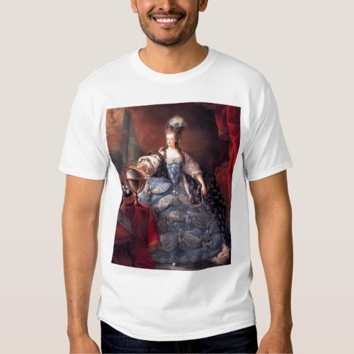 marie antoinette koningin der fransen t shirt zazzle