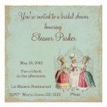 Marie Antoinette Ladies Bridal Shower Invitation