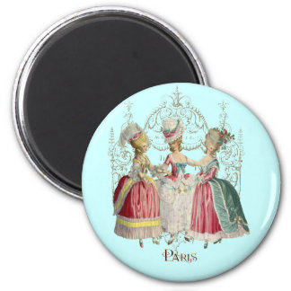 Marie Antoinette Ladies in Waiting 2 Inch Round Magnet