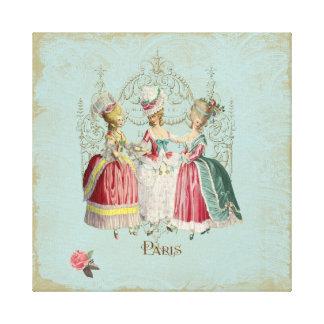 Marie Antoinette Ladies in Waiting Canvas Print
