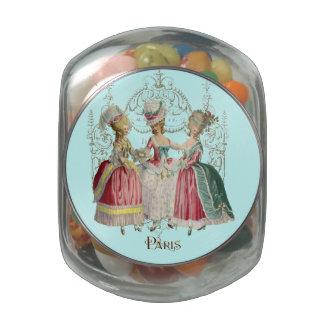 Marie Antoinette Ladies in Waiting Glass Jars