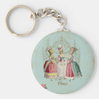Marie Antoinette Ladies in Waiting Basic Round Button Keychain