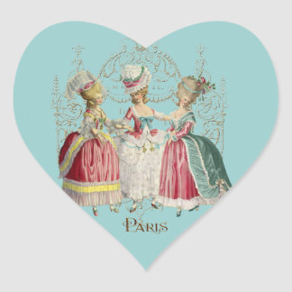 Marie Antoinette Ladies in Waiting Heart Sticker