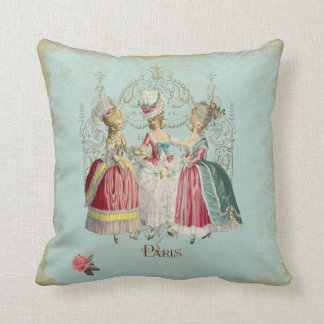 Marie Antoinette Ladies in Waiting Throw Pillow