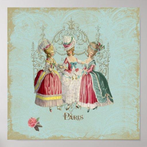 Marie Antoinette Ladies Paris French Print