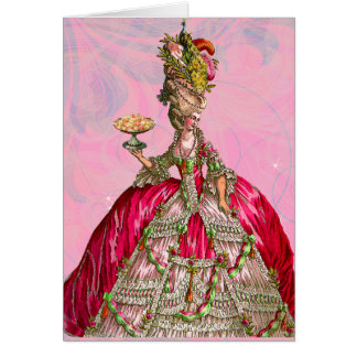 Marie Antoinette Let Them Eat Cake Stationery Note Card