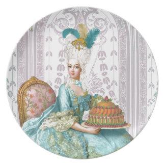 Marie Antoinette Let them eat Cake Dinner Plate