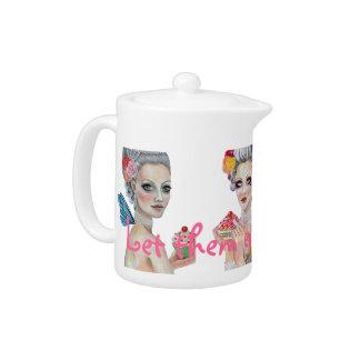 Marie Antoinette Let them eat cake Faeries Teapot
