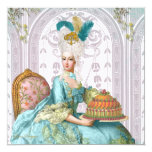 Marie Antoinette Let them Eat Cake 5.25x5.25 Square Paper Invitation Card