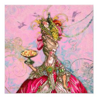Marie Antoinette Let them Eat Cake Custom Invitation