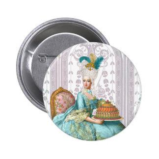 Marie Antoinette Let them eat Cake Pinback Button