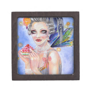 Marie Antoinette Let them eat cupcake Jewelry Box