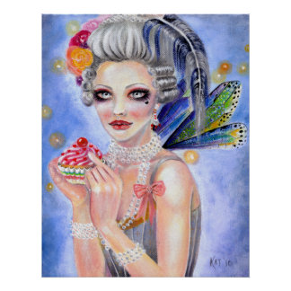 Marie Antoinette Let them eat cupcake Print