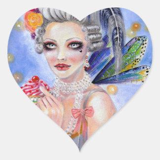 Marie Antoinette Let them eat cupcake Heart Sticker