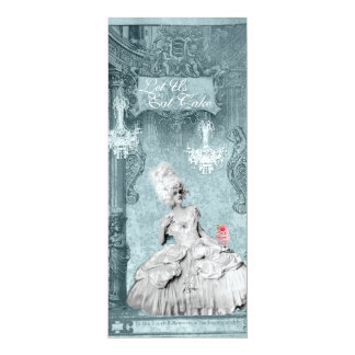 Marie Antoinette Let Us Eat Cupcakes 4x9.25 Paper Invitation Card