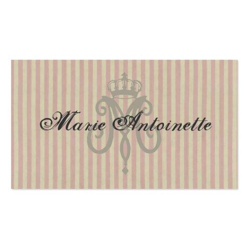 Marie Antoinette Logo ~ Business Card