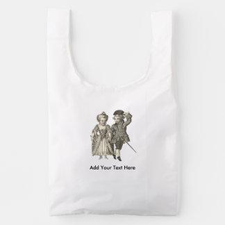 Marie Antoinette Louis XVI Romantic Couple Reusable Bag